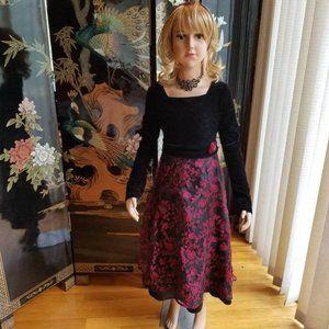 Brooke Lindsay Size 8 Red Black Formal Dress